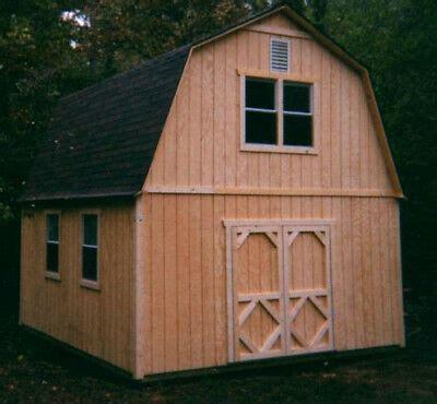 story barn style shed plans ebay