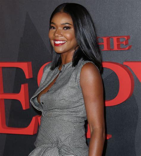 Wardrobe Slips by Gabrielle Union Suffers Major Nip Slip In Low Cut