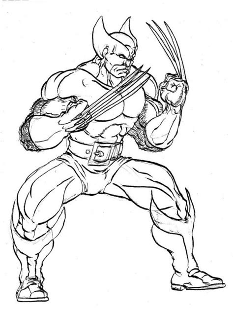 coloring pages for wolverine free wolverine coloring pages free coloring home
