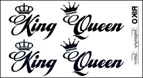 temporary tattoo stickers king queen crown designs