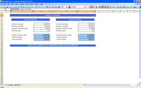 Simple Sales Chart Excel Templates Excel Calculator Template