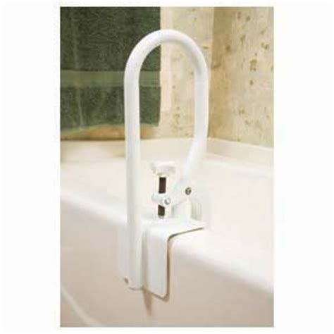 bathtub support bar amazon com carex bathtub white cl on molded support