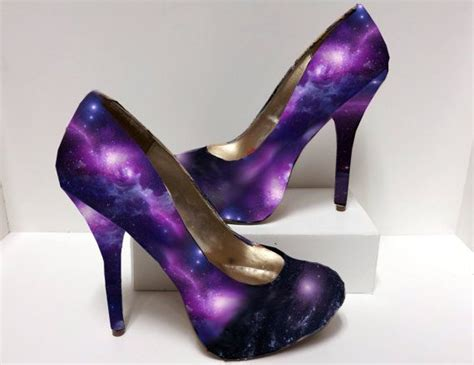 Decoupage High Heels - galaxy outer space nebula decoupage high heels by
