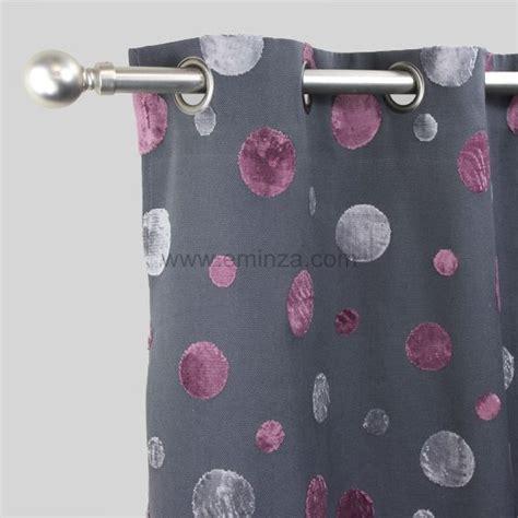 rideau violet et gris my