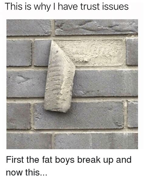 This Is Why I Have Trust Issues Meme - this is why i have trust issues first the fat boys break