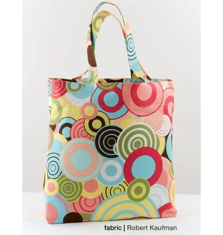 pattern tote bag flat bottom k3597 unlined bag has top edge finished with facing