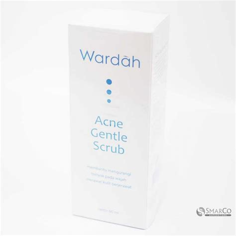 Wardah Scrub detil produk wardah acne gentle scrub 60 ml 1015050010269