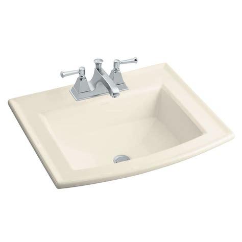 kohler bathroom sink drain kohler archer drop in vitreous china bathroom sink in