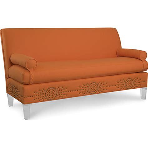 acrylic sofa legs cr laine 8301 02bn marguerite sofa with acrylic legs