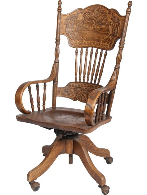 wood desk chairs ornate carved wood desk chair on wheels w armrests fea