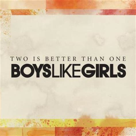 Boys Like Girls Two Is Better Than One | two is better than one feat taylor swift sheet music by