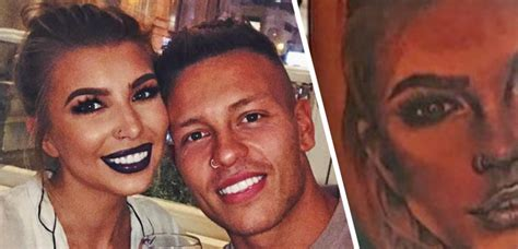 tattoo of us olivia buckland love island s alex bowen just got a huge tattoo of gf