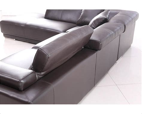 style brown leather sofa brown leather sectional sofa in contemporary style 44l5981