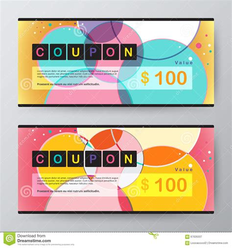 promotion card template coupon card template promotion card vector stock stock