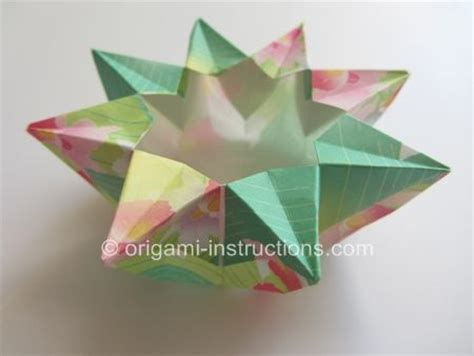 Origami Eight Pointed - origami 8 pointed vase step 1 of paper