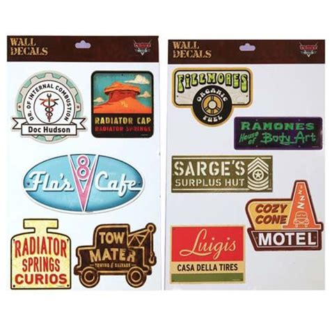 Disney Cars Wall Decals your wdw store disney wall decals radiator springs