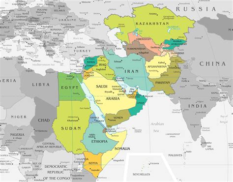 Southwestern Asia Map by Maps