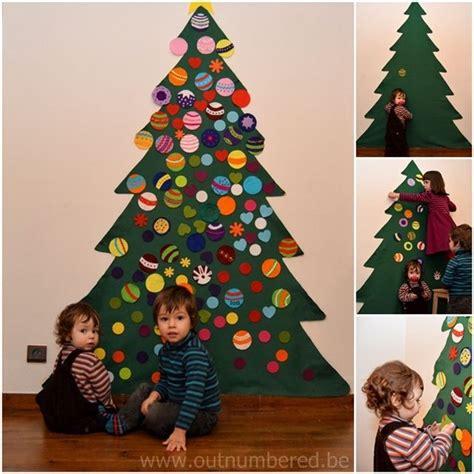 kid friendly christmas tree decorations kid friendly tree diy ideas felt trees