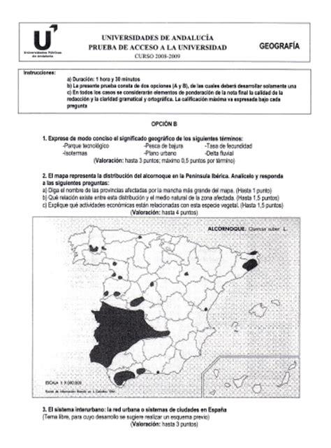 preguntas geografia selectividad geograf 205 a virgen de luj 193 n mapa pol 205 tico de espa 209 a y
