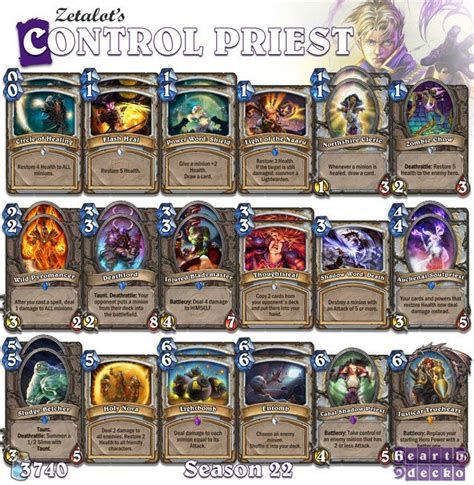 cheap priest deck hearthstone 52 best images about hearthstone priest decks on