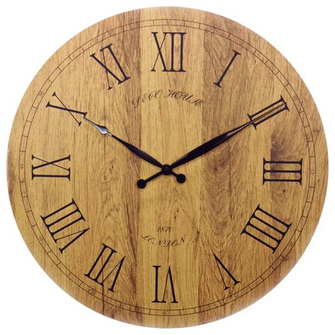 traditional wall clock 20 quot vintage italian tuscany style wooden wall clock