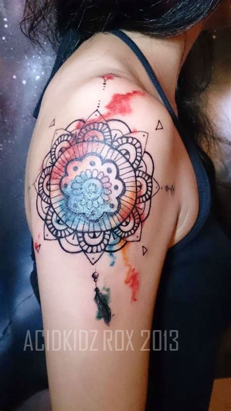 watercolor tattoos mandala water color mandala catcher tattoos that i