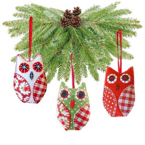 owl cute christmas tree dec fabric sewing pattern