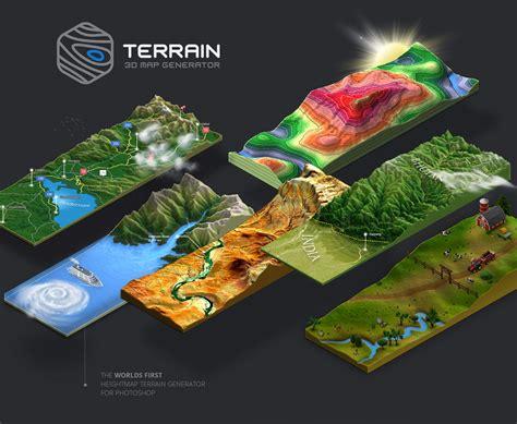 3d map 3d map generator terrain on behance