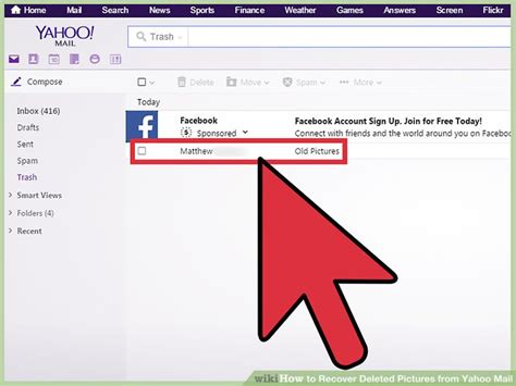 yahoo email disappeared how to recover deleted pictures from yahoo mail 13 steps