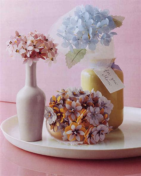 Martha Stewart Crafts Paper Flowers - fabric punched bouquet martha stewart