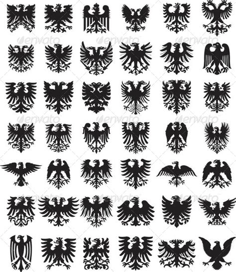 heraldic design elements vector heraldic stencil elements vector 187 tinkytyler org stock