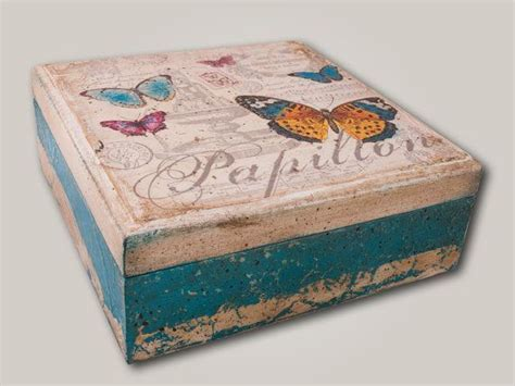 Decoupage On Wood - 50 ideas decoupage boxes 012 decopuage and transfer 2