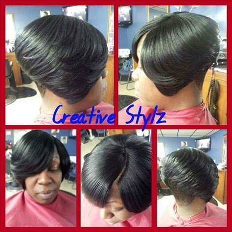 bob cut with bump hair 6 beautiful quick weave invisible part hairstyles