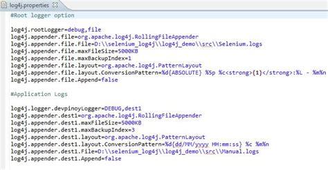 log4j filename pattern log4j with selenium tutorial