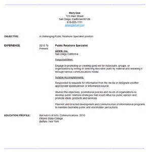 Relations Cover Letter Sles by Sle Relations Resume Resume Maker Resume Software