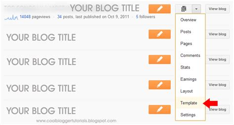 how to edit blogger template on new blogger interface