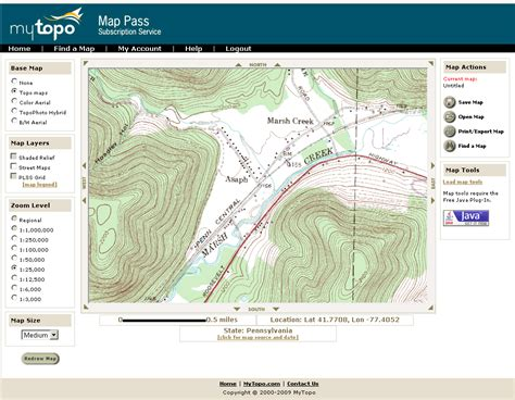 topographic map of mappass topos and aerial photos