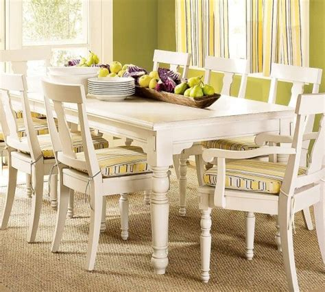 white dining set traditional dining room ideas  pottery