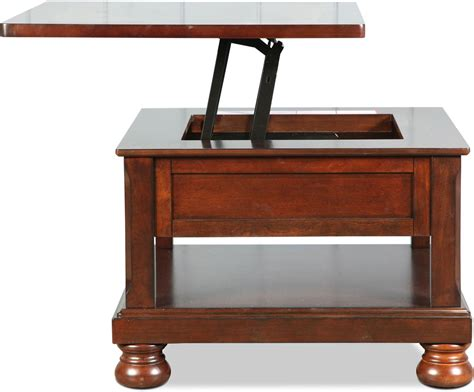 Lift Top Coffee Tables For Sale Hamilton Lift Top Coffee Table Burnished Brown Levin Furniture