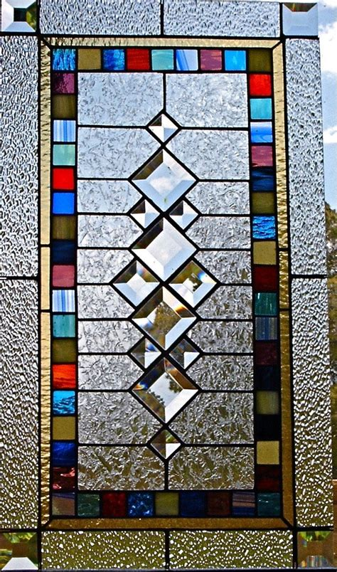 stained glass window panels stained glass window panel retro squares