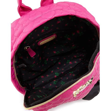 Betsey Johnson Quilted Backpack by Snap N Zip Fashion Accessories Betsey Johnson