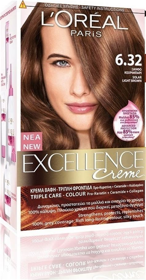 l oreal inoa no 5 3 with 6 20vol inoa deeveloper permanent hair color brown light golden 60 gm l oreal excellence no 6 32 ξανθό κεχριμπαρί skroutz gr