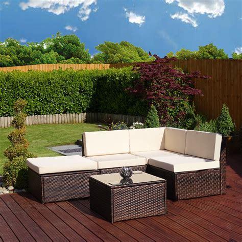 garden furniture corner sofa faro 5 piece brown rattan corner sofa abreo home furniture