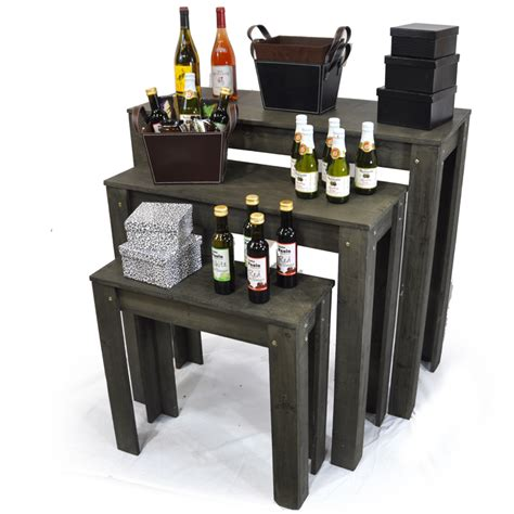 display tables for boutique nesting retail display tables set of three the
