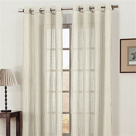 where to buy 95 inch curtains gemma sheer grommet 95 inch window curtain panel in ivory