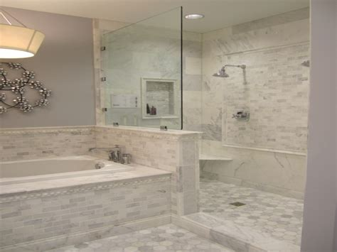 grey bathroom fixtures carrara marble tile bathroom ideas