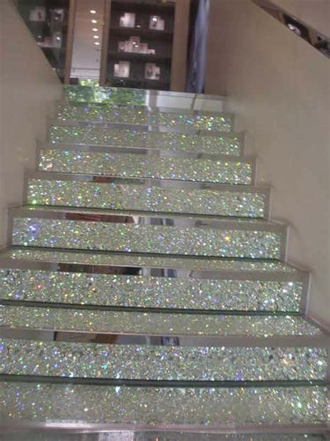 glitter wallpaper stairs 20 diy wallpapered stair risers ideas to give stairs some