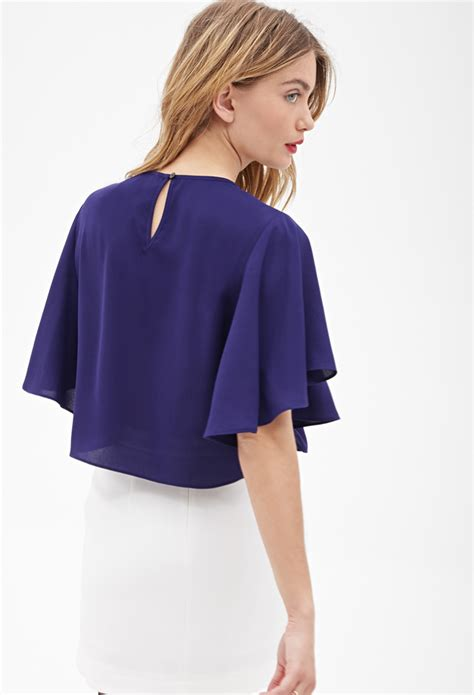 Blouse Crepe 1 forever 21 contemporary flutter sleeve crepe blouse in