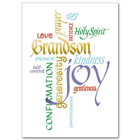 confirmation greeting card template grandson confirmation confirmation card grandson