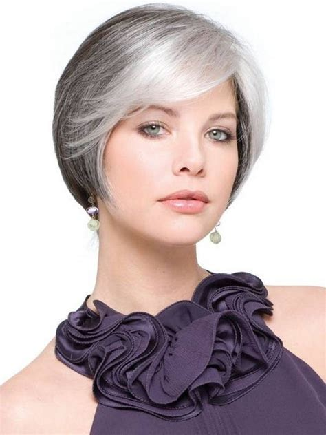 short grey hairstyles for straight thick hair 21 short haircuts for women over 50 godfather style